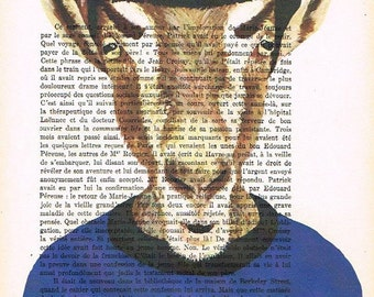 Mister Spock Goat: Print Art Poster Illustration Acrylic Painting Animal Portrait Wall Decor Wall Hanging Wall Art Drawing Glicee Startrek x