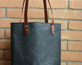 Tote bag in waxed canvas - waxed cotton bag - waxed canvas bag - everyday bag - tote bag - wax canvas bag - natural style - shopping bag