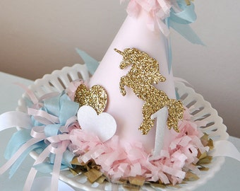Unicorn Kisses Birthday Hat