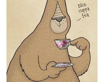 Nice Cuppa Tea  - Illustration Print