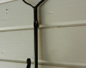 Made to order- Hand forged heart hooks
