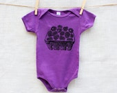 Blackberry Basket Organic Cotton Baby Onesie