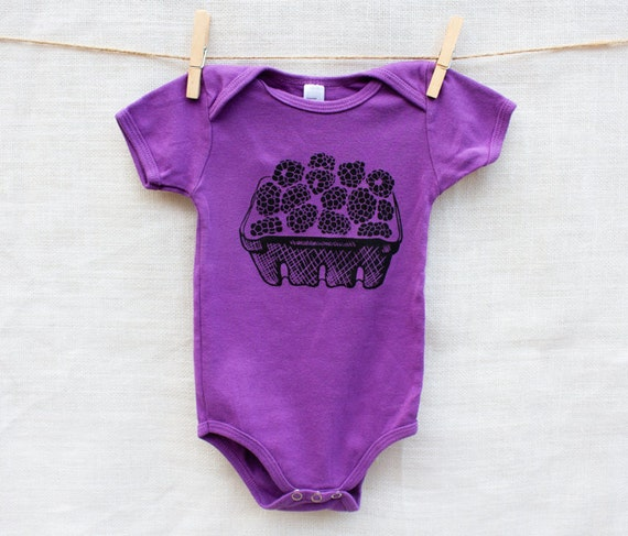 Blackberry Basket Organic Cotton Baby Onesie