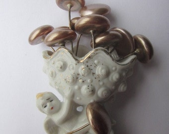 Large Vintage Glass Pearl Headpin