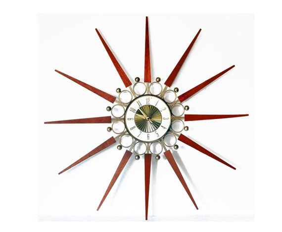 Starburst Clock 31 Mid Century Modern Elgin Atomic