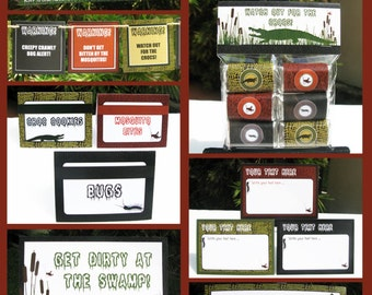 Swamp Party Invitations & Decorations - full Printable Package - INSTANT DOWNLOAD with EDITABLE text - you personalize at home