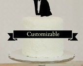YOUR OWN Silhouette on a Cake Topper Personalized YOUR Silhouettes, Custom Silhouette Wedding Cake Topper
