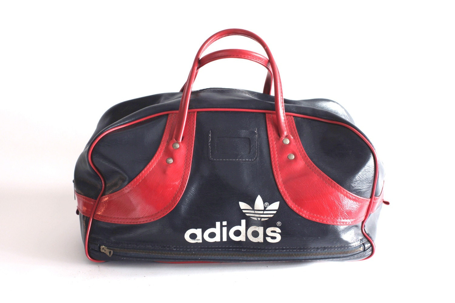 adidas gym bag blue and red duffle retro seventies. Black Bedroom Furniture Sets. Home Design Ideas