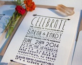 Simple Arrow Wedding, Invitation stamp only