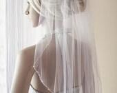 1layer or 2 layers beaded edging wedding veil, sparkle white, ivory, white, bridal veils, silk tulle, illusion tulle