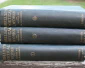 1881 Antique Victorian Percy Byssche Shelley's Poetical Works 3 Volume Set London