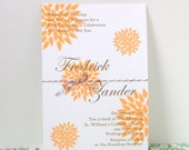 Ten Flower and Twine First Communion Invitations - Modern and Simple - You Pick the Colors - Elliot's Design - Personalized, Made to Order