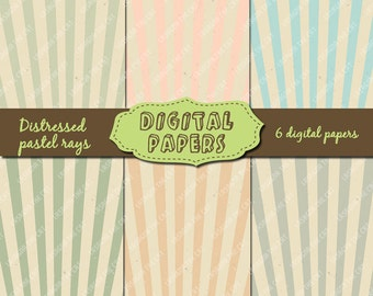 INSTANT DOWNLOAD Neutral distressed rays Printable digital papers scrapbooking, cardmaking, baby shower, blog background