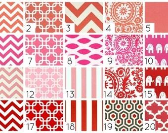 Drapery Curtain Panels. Red Coral Pink. 50 X 84 Custom Made Window Treatments. Chevron, Chain Link, Suzani, ikat
