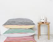 Both sides 80×80 Stripe Cushion Cover - PeterPan Serise (Handmade)