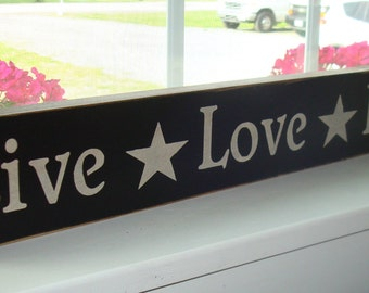 Live Love Laugh hand painted wood sign board