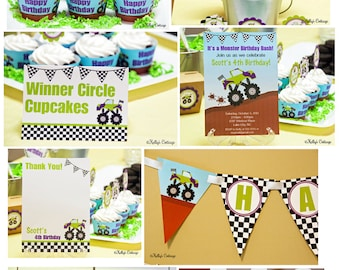 Monster Truck Birthday Party Package...Custom, Printable DIY Package