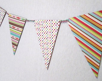 Bunting Banner Perfect for a Birthday Party or Baby Shower or Bar Mitzvah or Bat Mitzvah or Bridal Shower or for any Party Banner