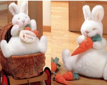 Huge Bunny Plush, Carrots and Bag Sewing Pattern PDF