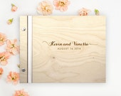 Sweet Caroline Wedding WOOD Guest Book