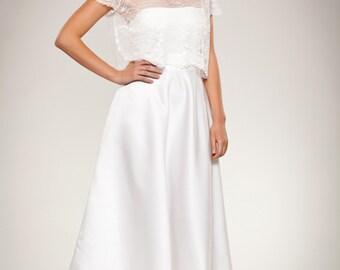 Lace Cover Up Wedding Dress. Good Primrose Lace Topper Bridal Lace ...