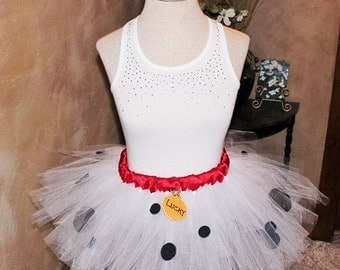 Adult Running Marathon Puppy Dog Inspired from Disney Movie 101 Dalmations Tutu Skirt Dress Birthday Party Costume Fun Run