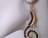 Florence Earrings. 14K Gold Fill in black spinel other colors available made to order