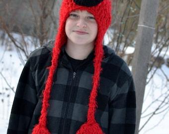 PATTERN - Crochet Elmo Hat - All 8 Sizes!!