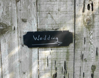 Wedding Chalkboard Hanging Blackboard Sign Decoration Direction Reception Signage Beach Cottage Country Cabin Home Decor Black Chalk Board