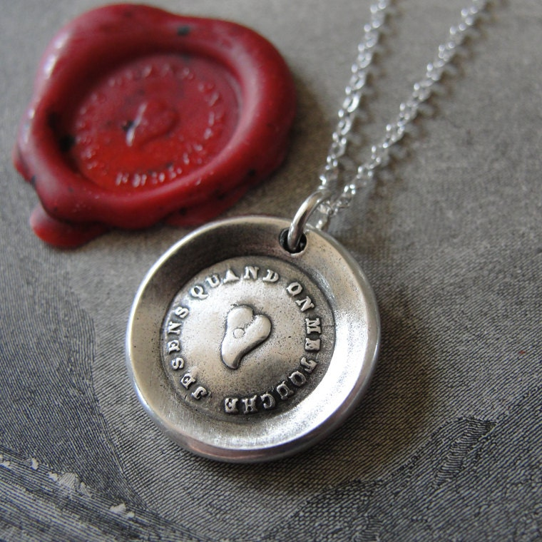wax seal necklace i feel every touch wax seal jewelry