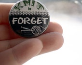Pin Back Button Knit to Forget Flair 1.5 inch