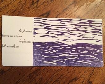 Leaves - Original Letterpress Portfolio - Hand Pulled