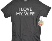 Poker Player Gifts - Shirts - Gambling Gift - I Love My Wife T-shirts for Husband