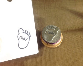 Baby Foot with Name Stamp