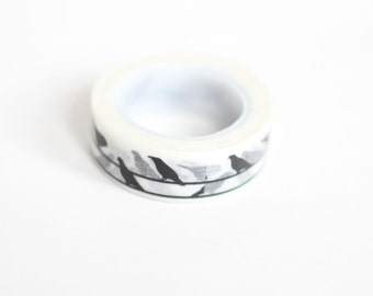 Washi Tape Black and White Birds on a Wire Washi Rice Paper Tape Japanese Masking Tape