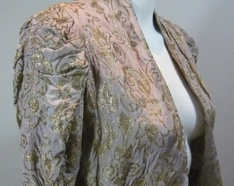 Beautiful 1930's Gold and Lilac Lame Jacket
