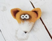 Brooch - Brooches  - Christmas - Jewelry - Flted animals - Felt brooch - Animals brooch - Baby accessories - gift for her - childrens gifts