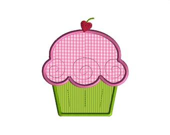 Cupcake Deluxe Applique Machine Embroidery Design-INSTANT DOWNLOAD