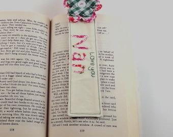 Personalised Pink Flower Bookmark