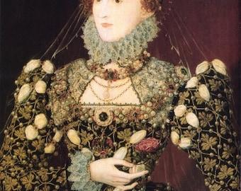 RENAISSANCE ART PRINT of Queen Elizabeth 1