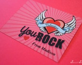 VALENTINES Favor Card – You Rock – Add your own candy! Classroom favor. Editable File. You Print.