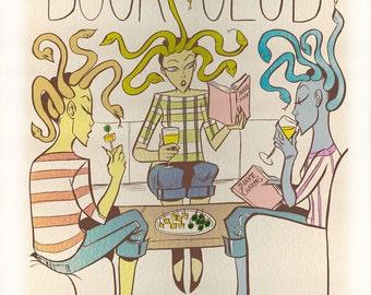 Three Furies Book Club Illustration - 8 x 10