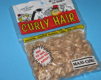 Curly Doll Hair One & Only MAXI Curl Vintage Dated package 1990 Sandy BLONDE