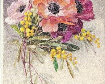 Vintage Bouquet of Flowers Unused Postcard Printed in Belgium Alfred Mainzer No. 427
