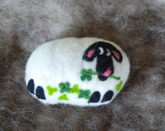 Felted Soap, Merino Wool, Clover The Sheep, Sheep In Clover, Christmas Gift