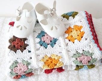 Blanket Crochet Pattern, Easy to Make, Beginner Crochet, Granny Blanket, Square Afghan, Sofa Throw, Baby Gift, Homemade Nursery, Lap Blanket