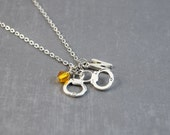 Handcuffs Necklace, Handcuff Pendant, Police Pendant, Personalized Birthstone Necklace, Police Jewelry, Police Academy, Police Necklace