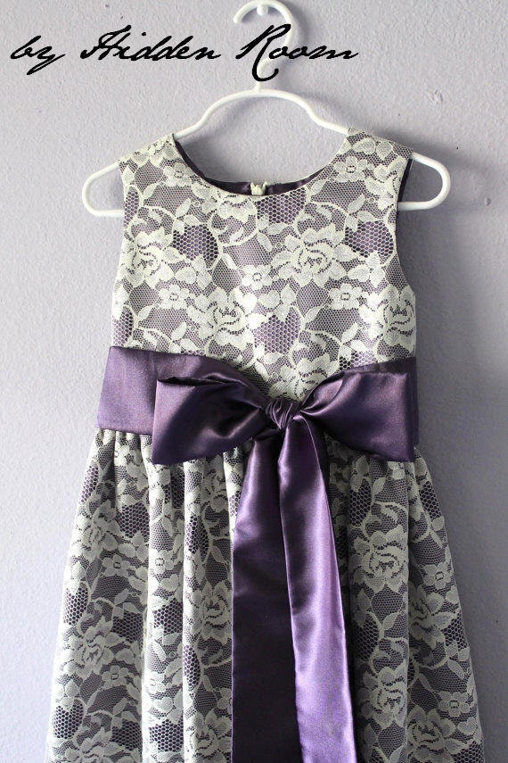 Flower Girl Dresses Ivory And Purple 38
