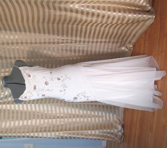 Vintage Wedding Dresses Art Deco : Vintage s style art deco wedding dress bias cut gown size m