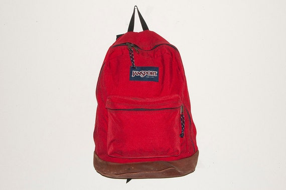 Jansport Leather Bottom Backpack // Made in USA